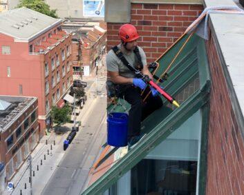 exterior leak and caulking repairs