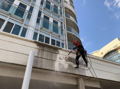 high-rise pressure washing